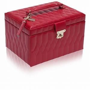 Boite A Bijoux Cuir : moyenne boite bijoux cuir rouge caroline wolf ocarat ~ Teatrodelosmanantiales.com Idées de Décoration