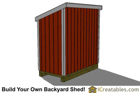 4x8 Wood Storage Shed by 4x8 Lean To Shed Plans Build Your Own Shed Icreatables