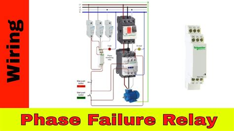 how to wire a contactor and phase failure relay youtube