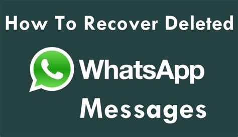 how to get back deleted messages on iphone how to recover deleted whatsapp messages tech bd