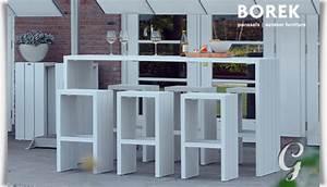 Gartenmöbel Hocker Alu : garten bar hocker samos von borek grau ~ Markanthonyermac.com Haus und Dekorationen