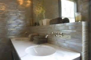 Backsplash Ideas For Bathroom Iridescent Backsplash Contemporary Bathroom Rethink Design Studio