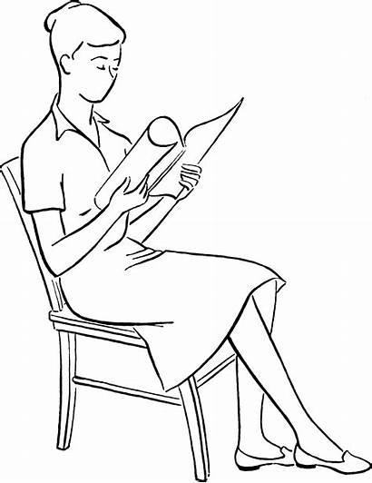 Sitting Chair Sit Posture Drawing Wikipedia Woman