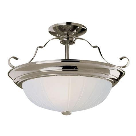 brushed nickel flush mount ceiling light bel air lighting stewart 3 light brushed nickel cfl