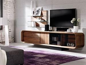Meuble Tele Haut : meuble tv design de luxe meuble t l hifi haut de gamme en noyer ou ch ne ~ Teatrodelosmanantiales.com Idées de Décoration