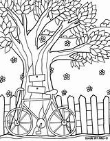 Coloring Fence Popular sketch template