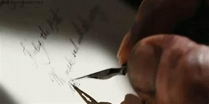 Handwriting Writing Close Animated Pen Writer Natural