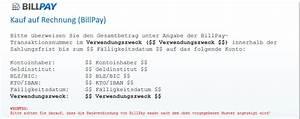 Rechnung Zahlungsfrist : zahlungsinformationen billpay ~ Themetempest.com Abrechnung