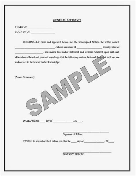 affidavit   change affidavit form places