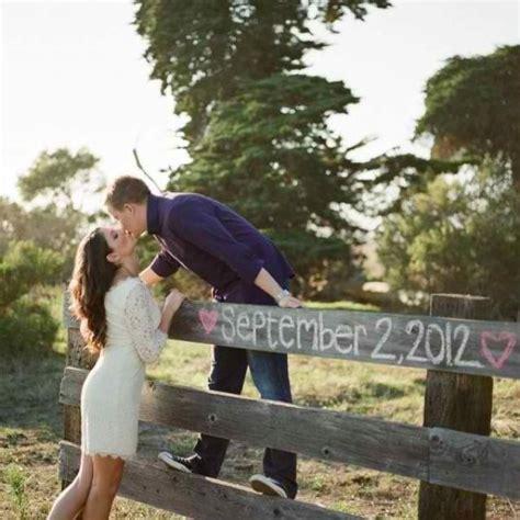 Save the date idea Wedding engagement photos Wedding