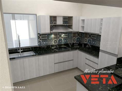 muebles de colores claros en la cocina veta saci
