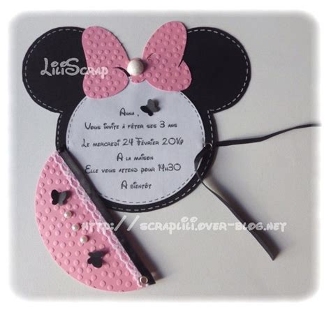faire part bapteme fille minnie