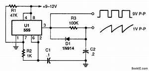sawtooth generator signal processing circuit diagram With timing signal generator circuit diagram tradeoficcom