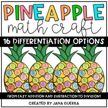 pineapple math craft differentiated  images math