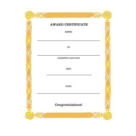 sample congratulations certificate   word
