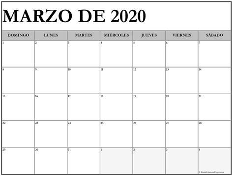 foto de marzo de 2020 calendario gratis Calendario marzo