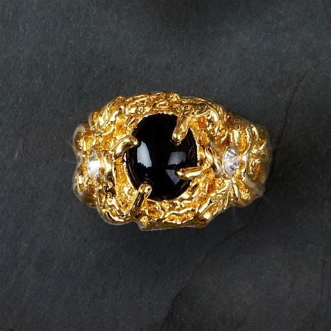 elvis kt gold plated sapphire ring elvis accessories