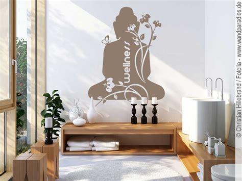 wandtattoo buddha zur wandgestaltung im badezimmer