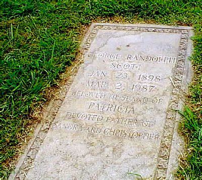 perry como burial site randolph scott 1898 1987 star of many westerns in the