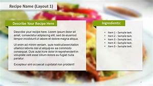 recipe layouts ppt template slide ocean With powerpoint recipe template