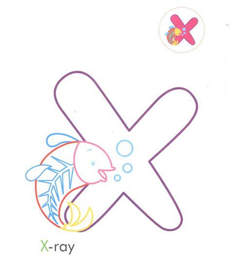 preschool letter x alphabet letter x xray coloring page for preschool 274