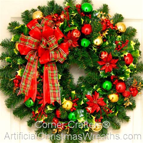 holly jolly christmas wreath artificialchristmaswreaths