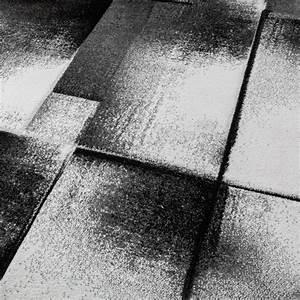 Tapis Salon Poil Ras : tapis design moderne salon tapis poils ras chin gris cr me noir tapis tapis poil ras ~ Teatrodelosmanantiales.com Idées de Décoration