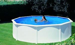 Piscine Acier Hors Sol Pas Cher : piscine hors sol acier gre fidji ronde avec parois en ~ Dailycaller-alerts.com Idées de Décoration
