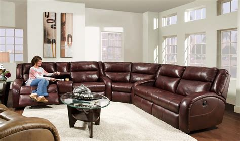large sectional sofas with recliners superb leather reclining sectional in living room rustic