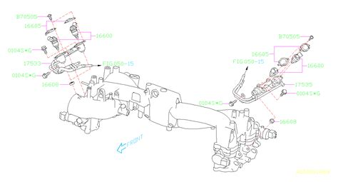 Subaru Intake Manifold Diagram by 16608ka000 Seal Fuel Injector Manifold Intake Pipe