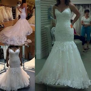 Vintage berta 2016 lace wedding dresses mermaid beaded for Plus size beaded wedding dresses