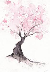cherry blossom tree painting | Tumblr