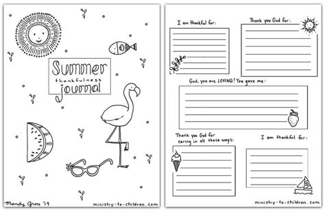 summer journal coloring pages  kids  printable