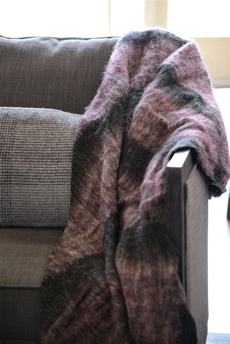 shabby chic fuzzy blanket fuzzy handmade purple and black throw blanket woodwaves