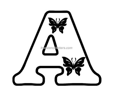 butterfly stencils  print print  letter stencil