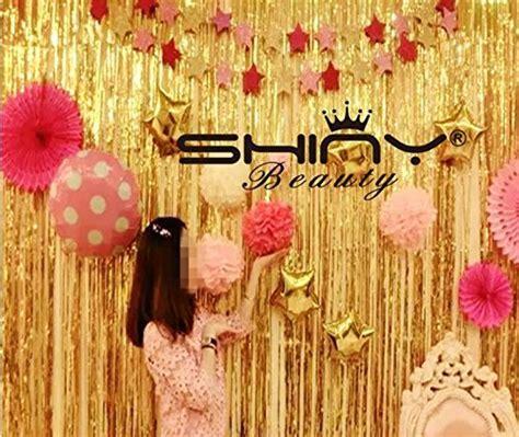 Gold Foil Fringe Curtain,3FTX8FT On Sale Tinsel Foil