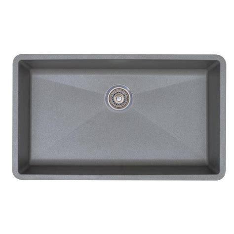 grey kitchen sinks blanco precis undermount granite 32 in single bowl 1504