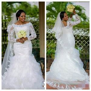 plus size mermaid lace wedding dresses full sleeves bridal With ebay used wedding dresses