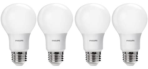 green deals philips 4 pack a19 daylight led light bulbs