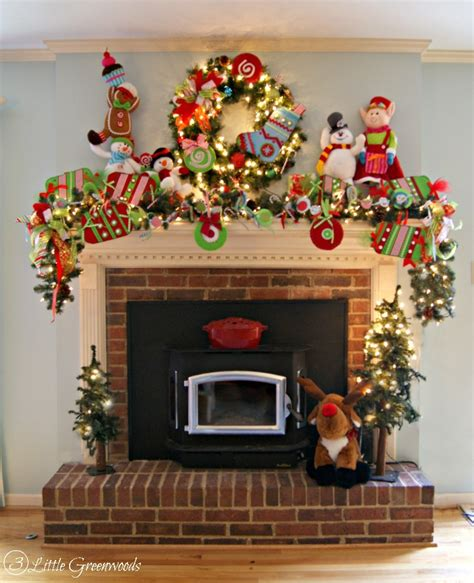 christmas mantle garland whimsical christmas mantel decorations