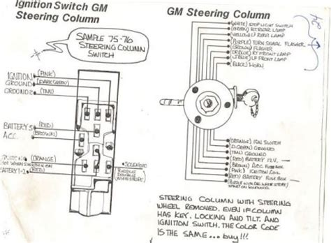 Gm Steering Column Diagram by Help With Wiring A Gm Steering Column Farmall Cub