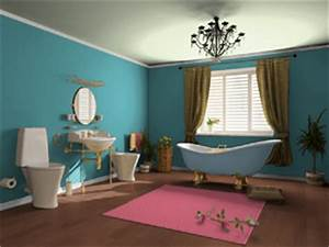 Bathroom color schemes for Turquoise and pink bathroom