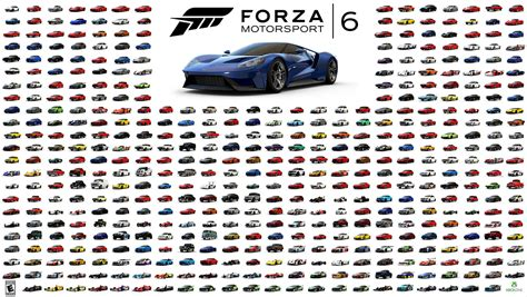 Cars List by Forza Motorsport 6 Car Track Lists Revealed