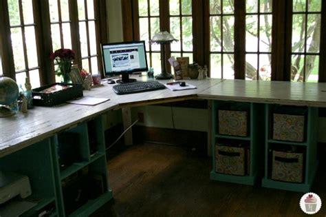 hometalk rustic office desk pottery barn style
