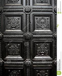 Black House Door Pattern Stock Photo - Image: 1319440