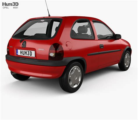 Opel Corsa B opel corsa b 3 door hatchback 1998 3d model vehicles