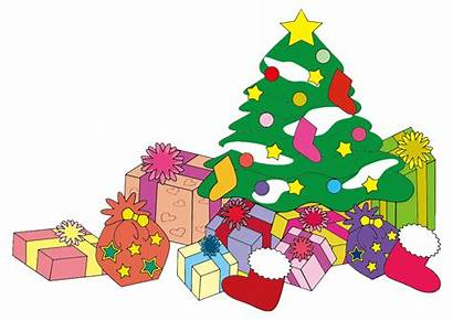 Christmas Tree Presents Clip French Clipart Tes