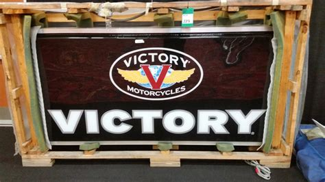 Victory Motorcycle Lighted Dealer Sign 72x60