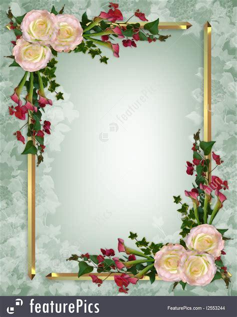 templates wedding invitation elegant floral stock