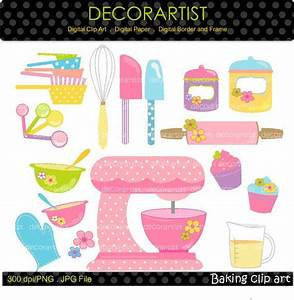 baking clip art digital clip art kitchen pink mixer With what kind of paint to use on kitchen cabinets for personal planner stickers